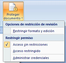 proteger documento de word