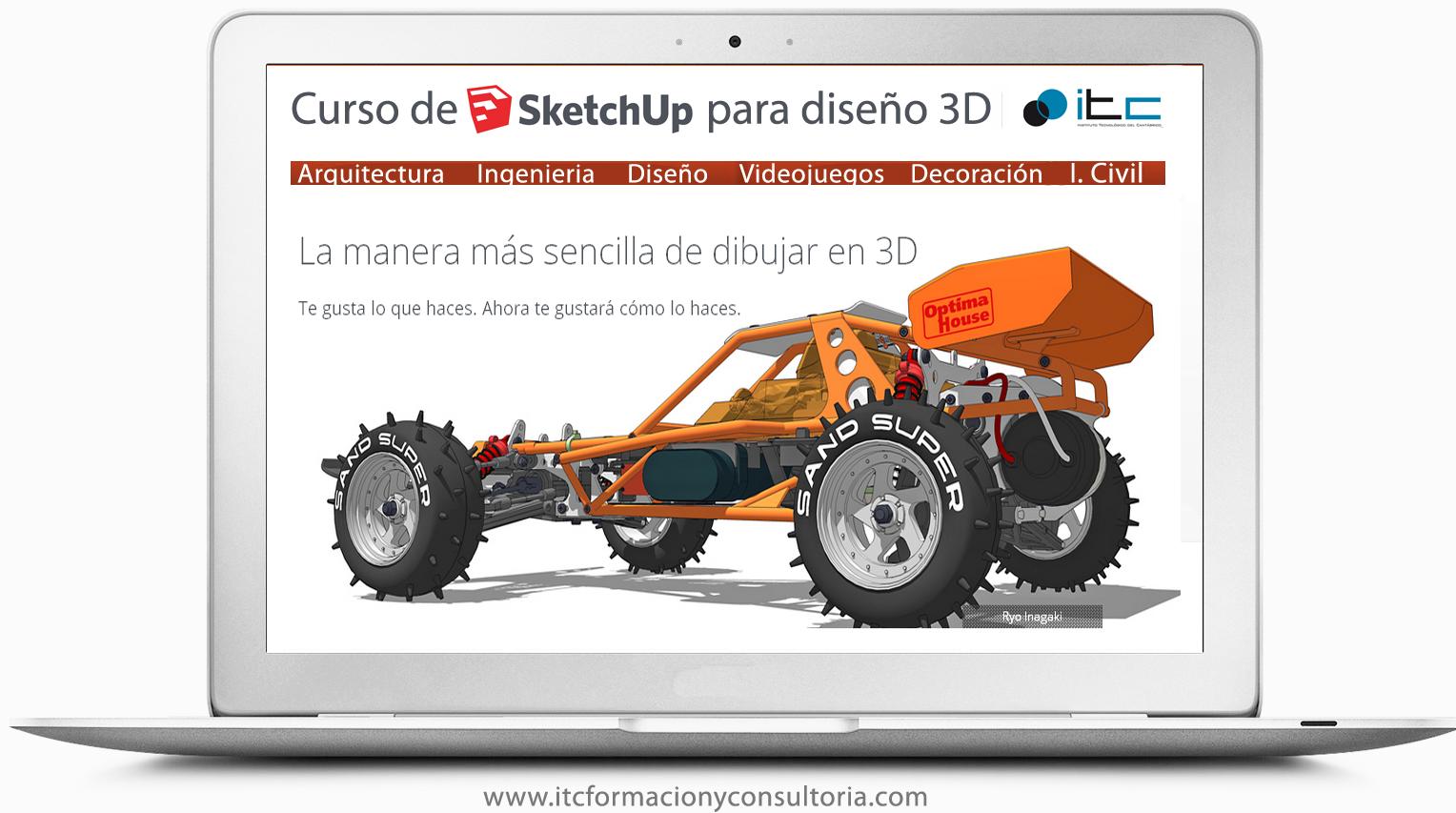 Curso de dise o 3d y presentaciones virtuales con sketchup for Programas para diseno 3d