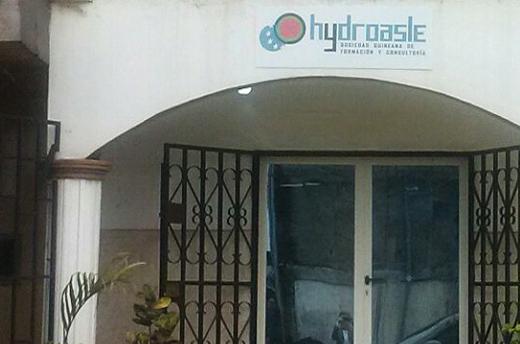 Oficina en Malabo, Guinea Ecuatorial, de la Sociedad Guineana de Formación y Consultoría